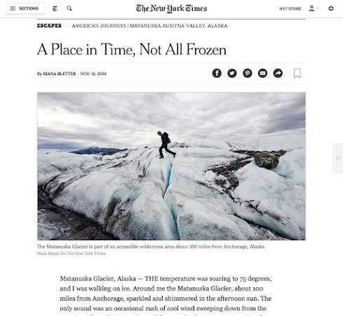 Alaska's Matanuska Valley for the New York Times