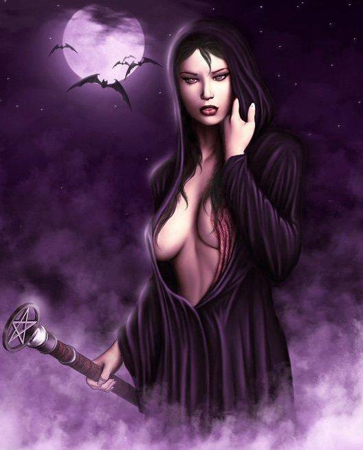 Black Moon And Bats, Moon Magic