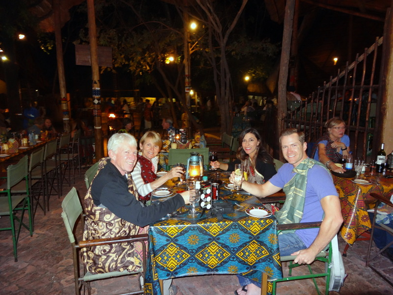 Dinner at Boma in Vic Falls