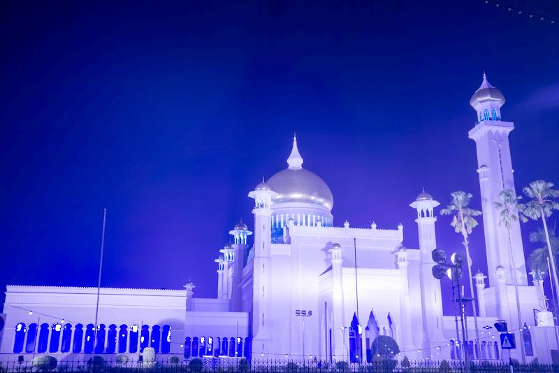 ブルネイ オールドモスク ライトアップ6