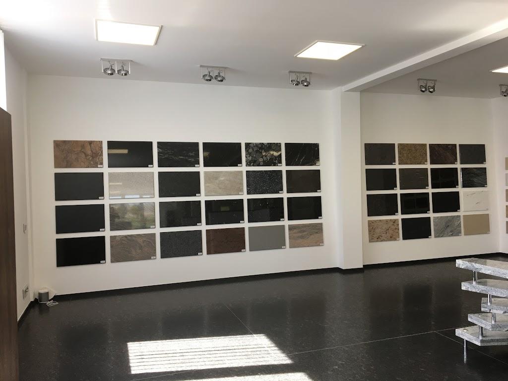 Muster-Wand für einen Einblick in die Materialvielfalt