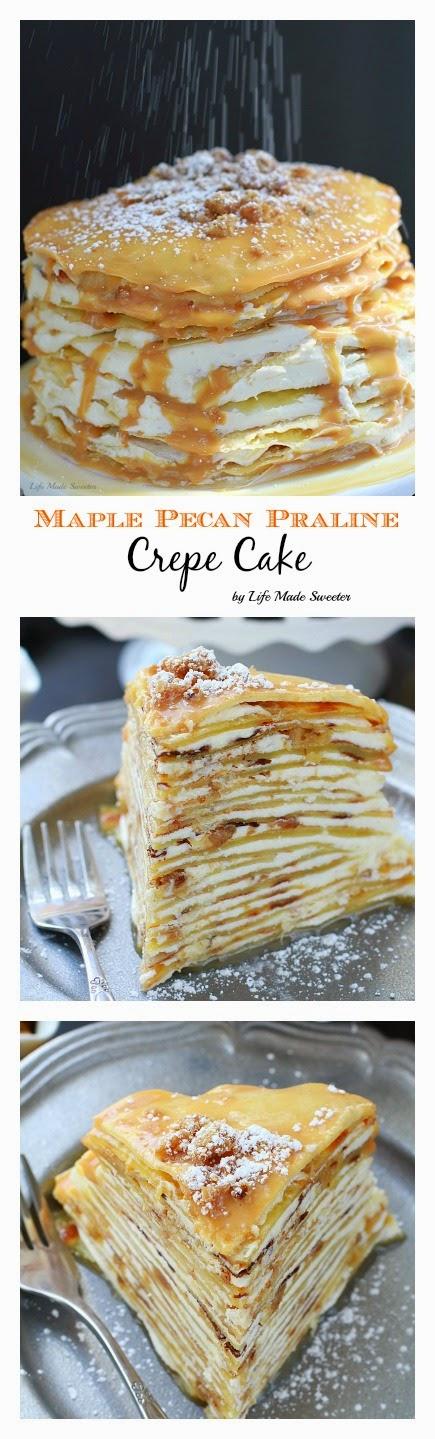 Maple Pecan Praline Cake makes an impressive & delicious brunch or dessert..jpg