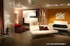 divano Pierrot di Bonaldo, armadio Kaleido e letto Omega di Presotto nella zona notte
