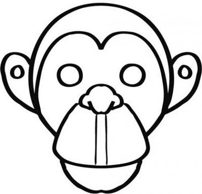 MONO 5mascara de animales  para colorar (44)_thumb