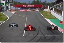 Il sorpasso di Sebastian Vettel a Kevin Magnussen nel gran premio di Spagna 2018