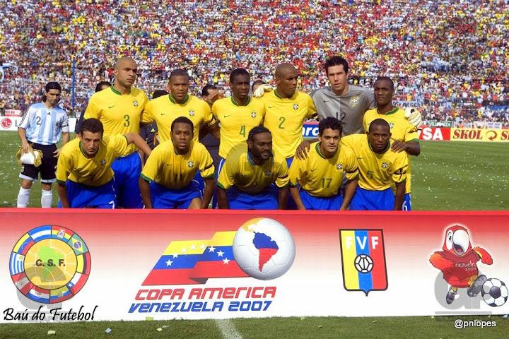 130e91c1b3 Brasil Campeão da Copa América de 2007 na Venezuela