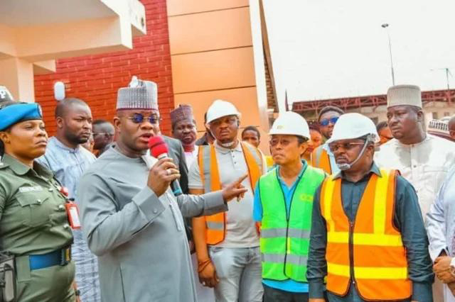 Angry Yahaya Bello to Chinese contractors: Is this the quality of Hospitals you build in China
