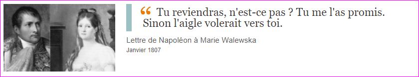 Lettre de Napoléon à Marie Walewska