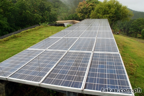 Solar Panels that Powers the Weather Station