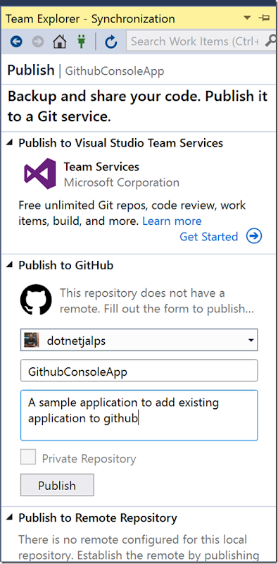 github-publishing-sample-application