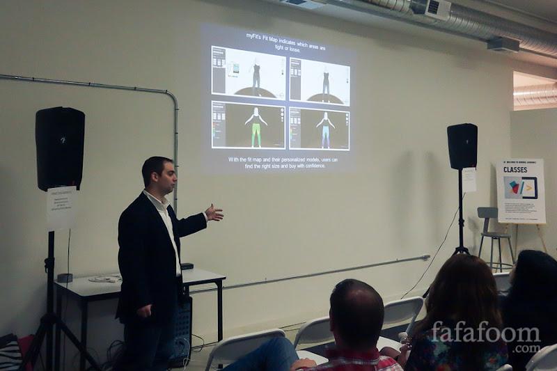 Rick Tillilie presenting how myFit works