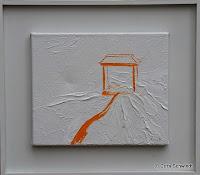 """""""Tempel"""", Öl auf Leinwand, 29x24, 2005"""