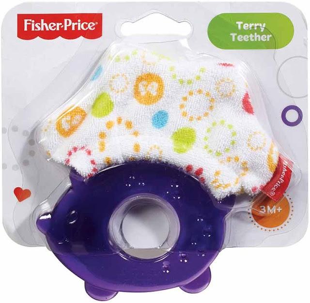 Ngậm nướu Nhím con Fisher Price Terry Teether tuyệt đối an toàn
