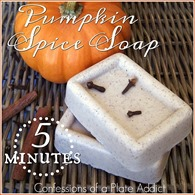 CONFESSIONS OF A PLATE ADDICT 5 Minute Pumpkin Spice Goats Milk Soap1