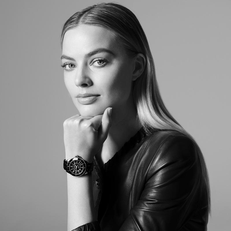 Margot Robbie stars in Chanel J12 Watch campaign.