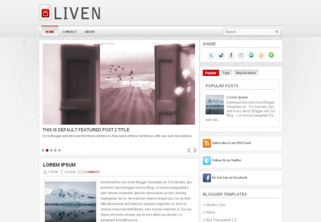 Chrome Gray Blogger Layout Template