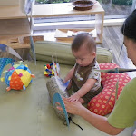LePort Private School Irvine - Teacher exploring with baby at Montessori baby daycare
