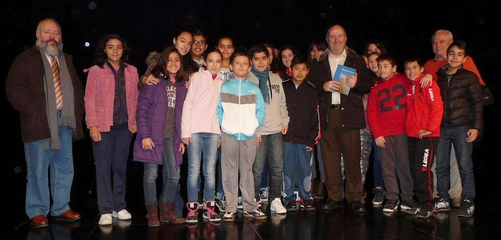 Encuentro de Alberto Gil con escolares de Alcantarilla.
