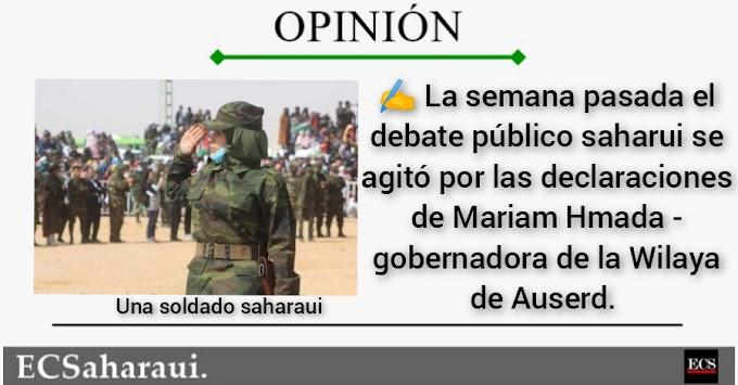 ¿Deben las mujeres saharauis ir al frente?