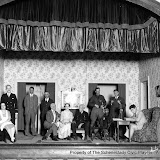 Grace T. Warner, Milton E. Arneel, (Unknown), (Unknown), Scott Button, Katherine Johnson, Phillip A. Ham, (Unknown), (Unknown) and Harry Gough in NED McCOBB'S DAUGHTER - January 1931.  Property of The Schenectady Civic Players Theater Archive.