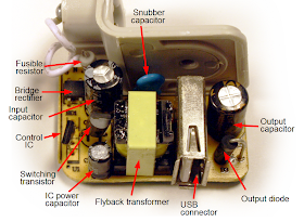 Inside a counterfeit iPad charger