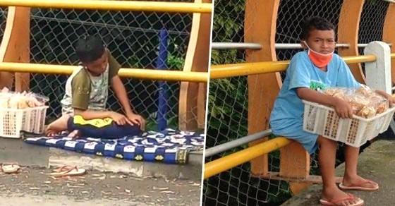 Viral!! Bocah Sholat di Trotoar, Dirinya Sudah Ditinggal Ayahnya Sejak Masih Dalam Kandungan
