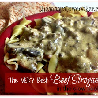The BEST Beef Stroganuff Slow Cooker Recipe!.