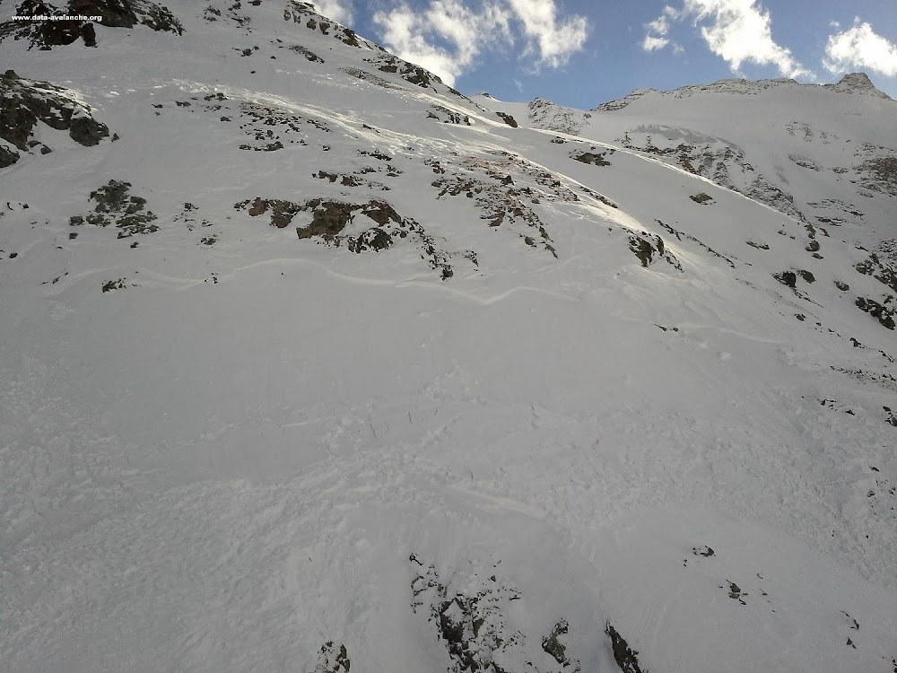 Avalanche Haute Maurienne, secteur Bonneval sur Arc, Ouille Mouta - Photo 1 - © PGHM Modane