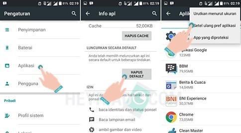Cara mengubah default aplikasi di Android 2 Cara Mengubah Default Aplikasi Android