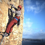 1986 Winspit - Tim Dunsby on 1st ascent Return of the Native.jpg