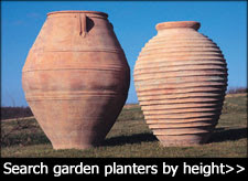 Large terracotta garden urns and pots