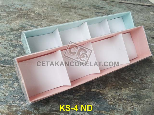 Kemasan Mika kotak sekat coklat cokelat KS-4 ND