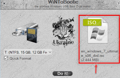 membuat Linux bootable WinToBootic