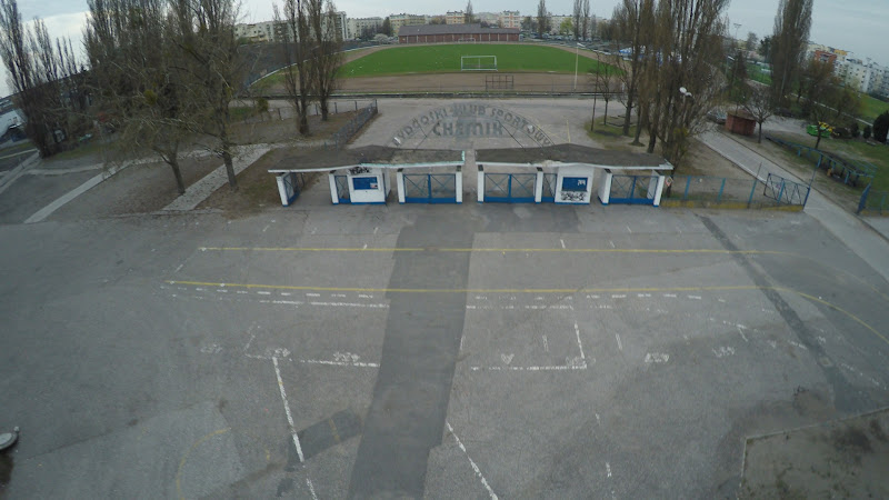 wynajem drona zdjęcia z lotu ptaka z drona Bydgoszcz - bydgoskie stadiony piłkarskie i żużlowe z lotu ptaka