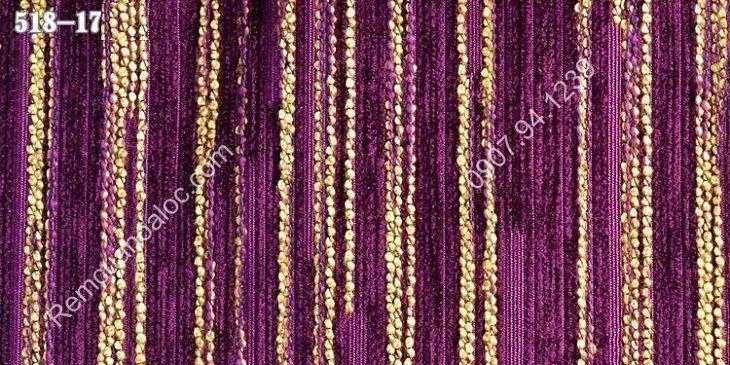 Rèm vải đẹp cao cấp nhung nỉ kẻ một màu 10