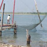 Chinese fishing nets, Kochi, India