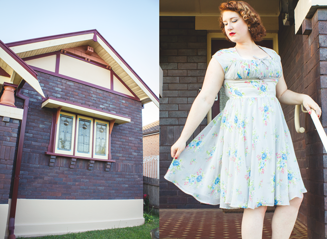 'Roslyn' Hell Bunny Dress in Vintage Inspired Style | Lavender & Twill