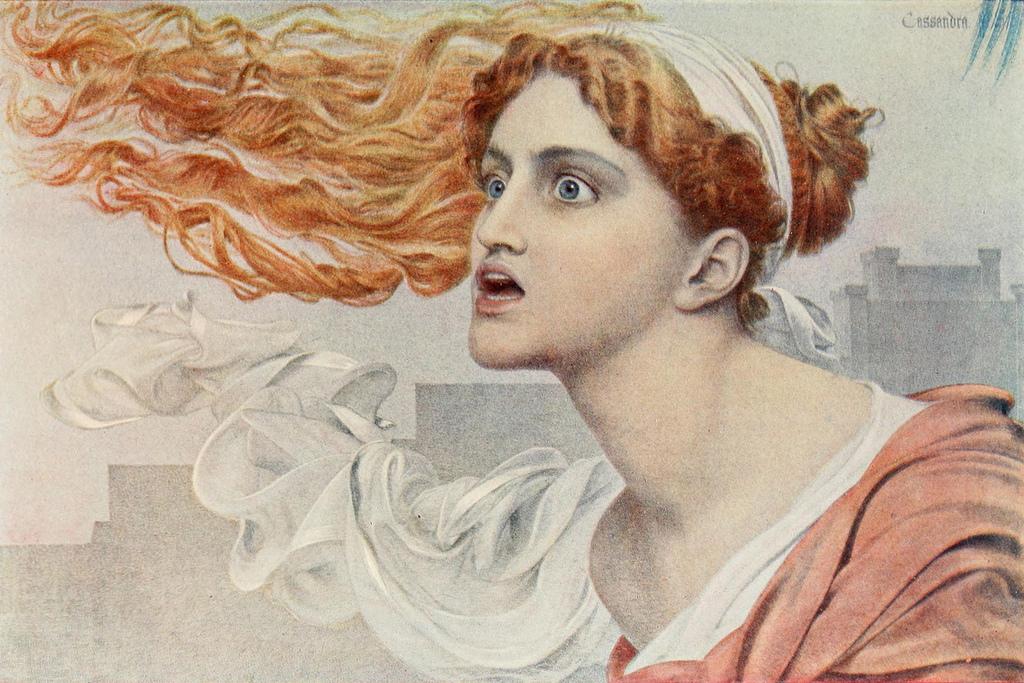 Frederick Sandys - Cassandra, c. 1895