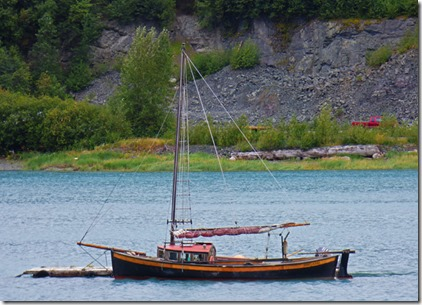 Boat in Chilkat Inlet