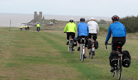 Kent Coast weekend - approaching Reculver Abbey