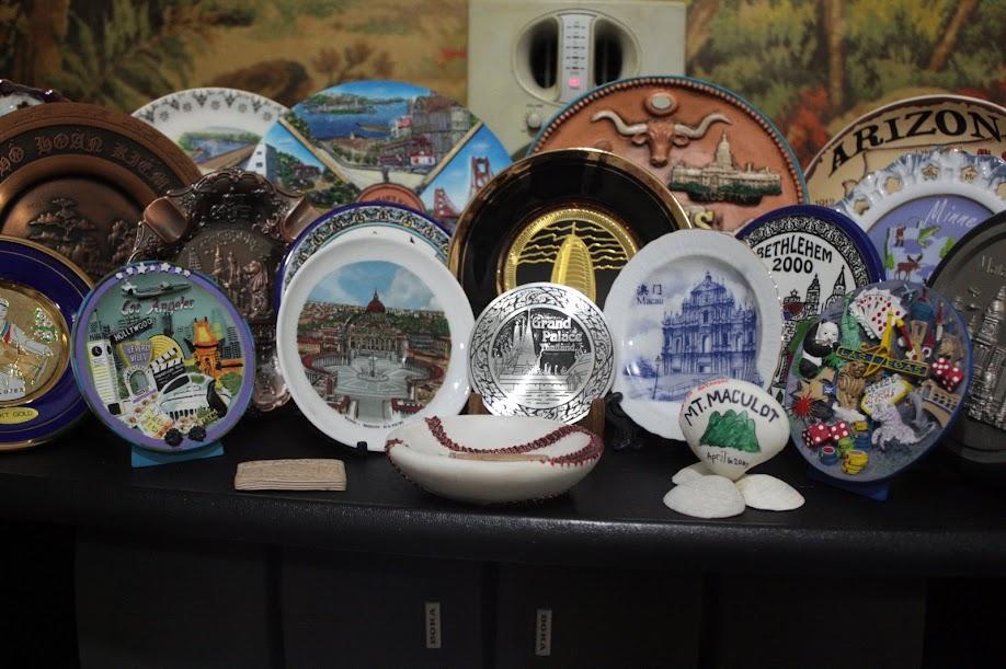 PauTravels' Collection of souvenir plates