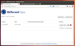 BitTorrent Sync 1.1.42 in Ubuntu Linux