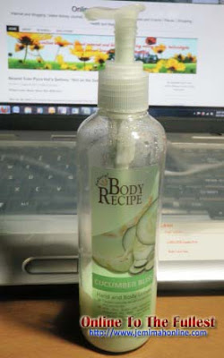 body recipe hand and body lotion cucumber bliss