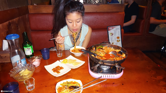 the most spicy after party food EVER! but delicious in Seoul, Seoul Special City, South Korea