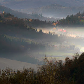 Misty morning by Roberto Melotti - Landscapes Weather ( roberto melotti, bologna, fog, nikon d810, morning, italy, misty )
