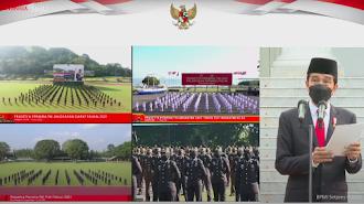 Presiden Jokowi Lantik 700 Perwira TNI dan Polri Tahun 2021