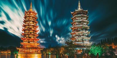 Pagoda Matahari dan Bulan, Guilin Cina