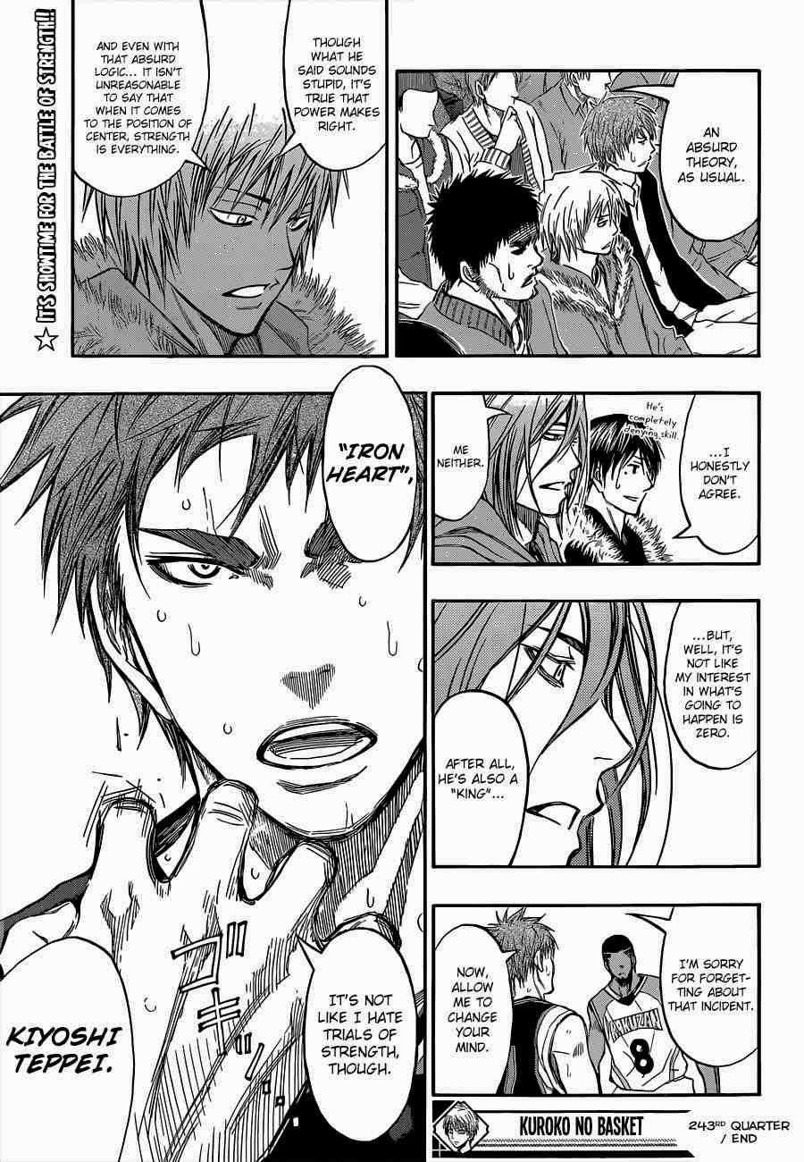 Kuroko no Basket Manga Chapter 243 - Image 19