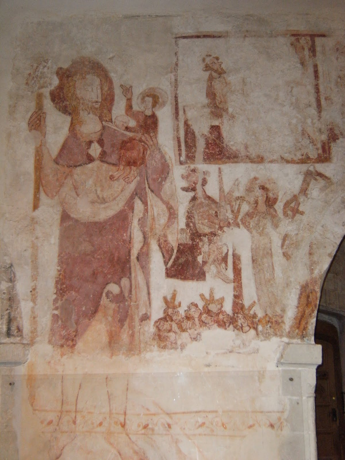1003130010 St Christopher mural, Little Missenden church