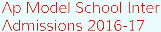 ap model school admissions 2016